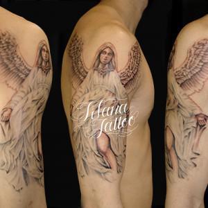 女神のタトゥー|刺青作品画像