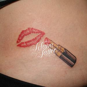 Lipstick/Hickey mark Tattoo