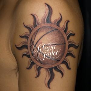 バスケットボールのタトゥー