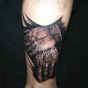 手のタトゥー|刺青作品