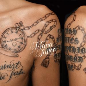 懐中時計のタトゥー|刺青作品