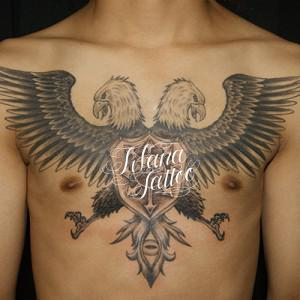 Symmetry Eagle Tattoo