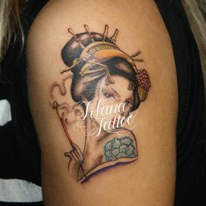 花魁のタトゥー|刺青作品