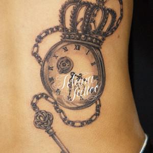 懐中時計|王冠|鍵のタトゥー