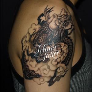 龍|雲の刺青作品