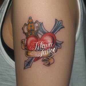 ハート|クロス|王冠のタトゥー