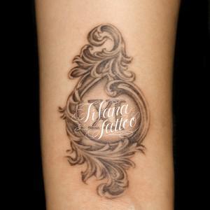 ローマ数字のタトゥー|刺青作品