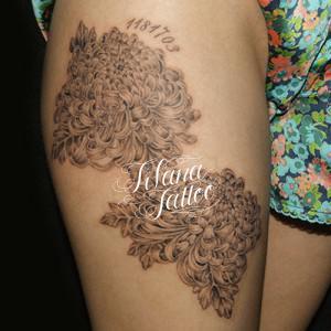 菊の刺青作品画像