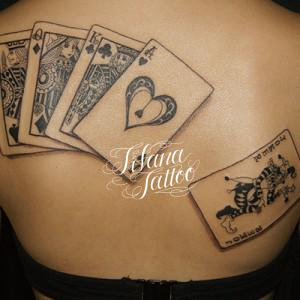 Royal Straight Flush Tattoo