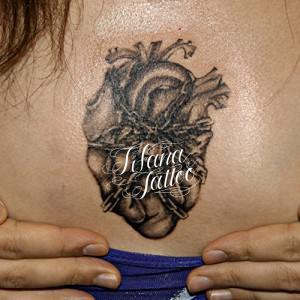 心臓|鎖|南京錠のタトゥー