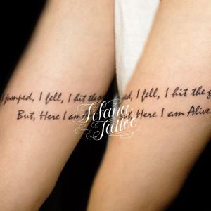 Hand Writing Tattoo