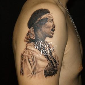 Jimi Hendrix Portrait Tattoo
