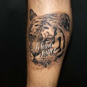 虎のポートレイトタトゥー