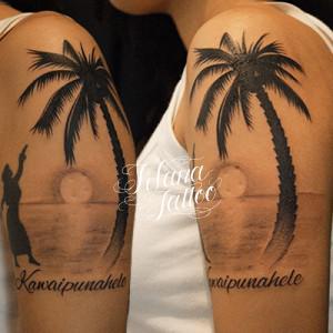 ハワイの風景のタトゥー