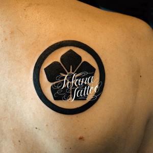 家紋のタトゥー|刺青作品画像