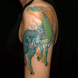 麒麟のタトゥー|刺青作品