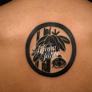 家紋の刺青作品