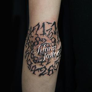数字のタトゥー|刺青作品画像