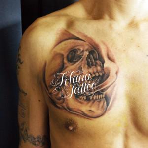 スカルのタトゥー作品画像