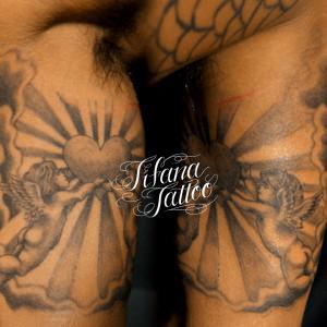 天使|ハートのタトゥー