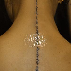 手書き文字の刺青作品