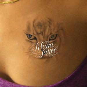 猫の刺青作品