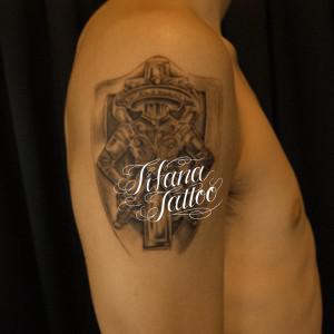紋章のタトゥー 刺青作品