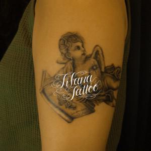 天使のタトゥー|刺青作品画像