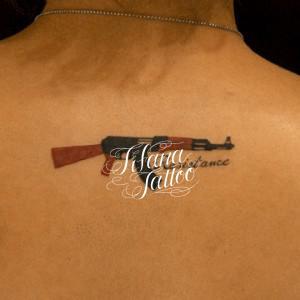 ライフルのタトゥー