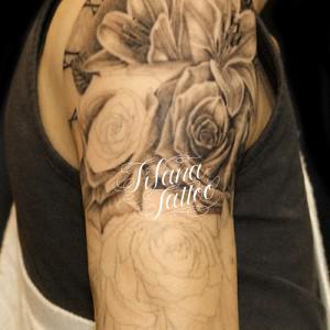 薔薇|百合のタトゥー