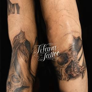 スカルのタトゥー|製作中