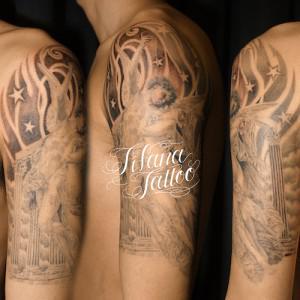 プシュケとキューピットのタトゥー