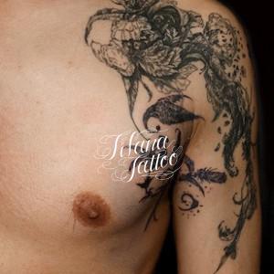 植物のタトゥー|持込デザイン