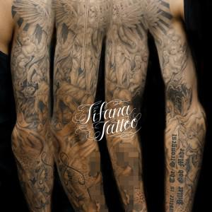 Religious Full Sleeve Tattoo