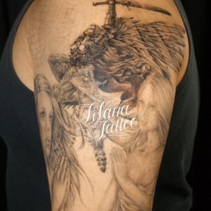 天使と祈る女のタトゥー|製作中