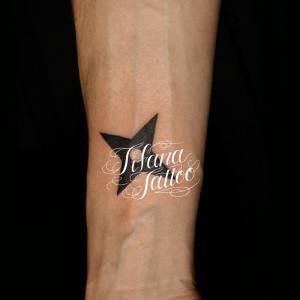 手裏剣のタトゥー