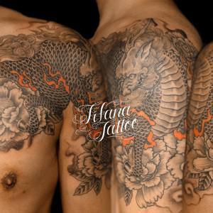 麒麟|牡丹のタトゥー