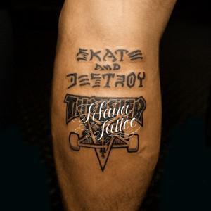 ロゴのタトゥー