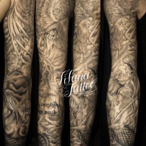 Religious Full Sleeve Tattoo