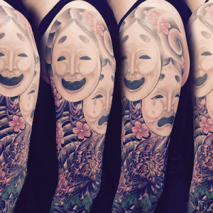 Japanese Two Face Tattoo