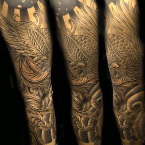 鳳凰の刺青作品