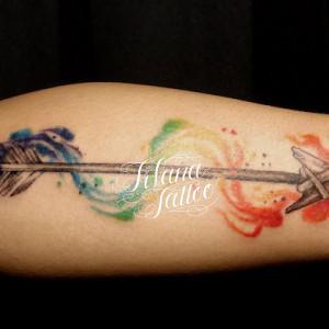 水彩画調のタトゥー