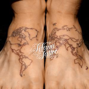 WORLD MAP TATTOO