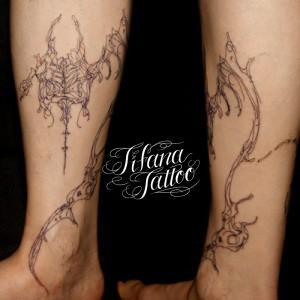 抽象画のタトゥー