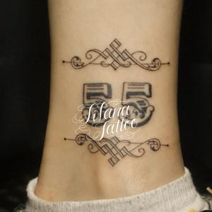 数字のタトゥー