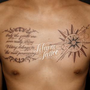コンパス|太陽|幾何学模様|レタリングのタトゥー