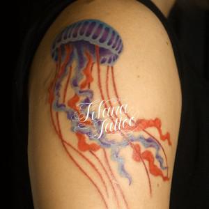 クラゲのタトゥー