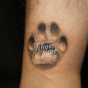 肉球のタトゥー