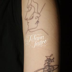 LINE ART タトゥー