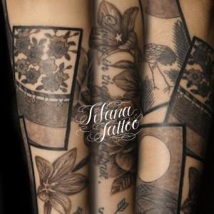 花札のタトゥー